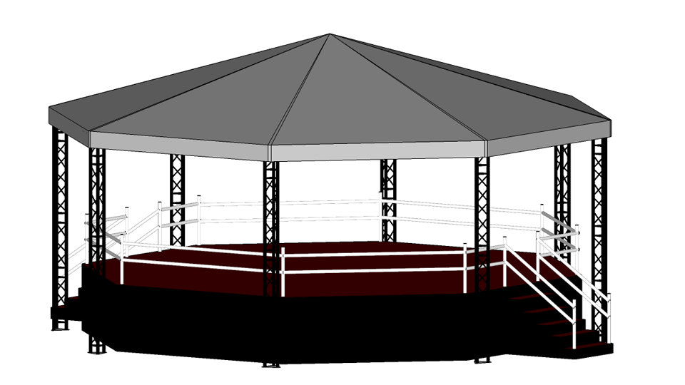 Bandstand hire 2 with height extension
