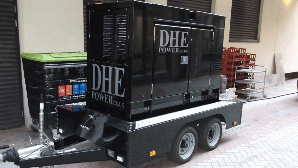 Cheshire Stage Hire 40KVA Ultra Silent Road Towable Diesel Generator